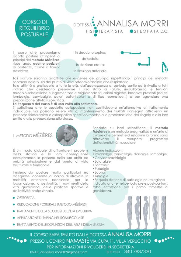 Dott.ssa Annalisa Morri - fisioterapista - corso di riequilibrio posturale